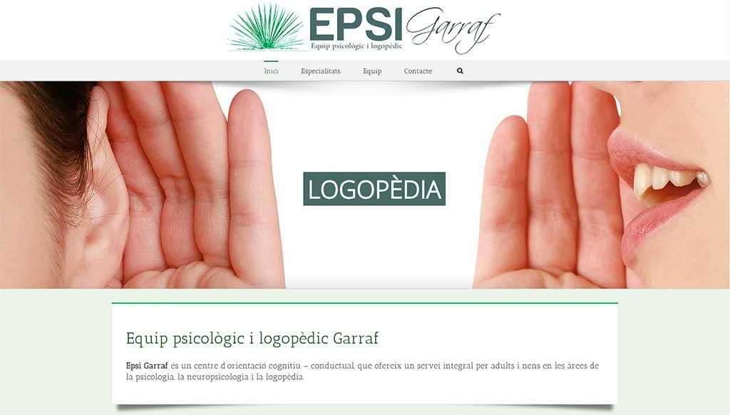 Epsi Garraf Centro Psicologia Logopedia Pagina Web