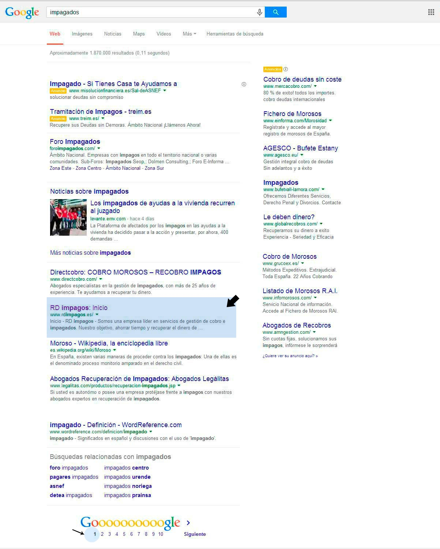 impagados-primeros-puestos-google-seo-buscadores