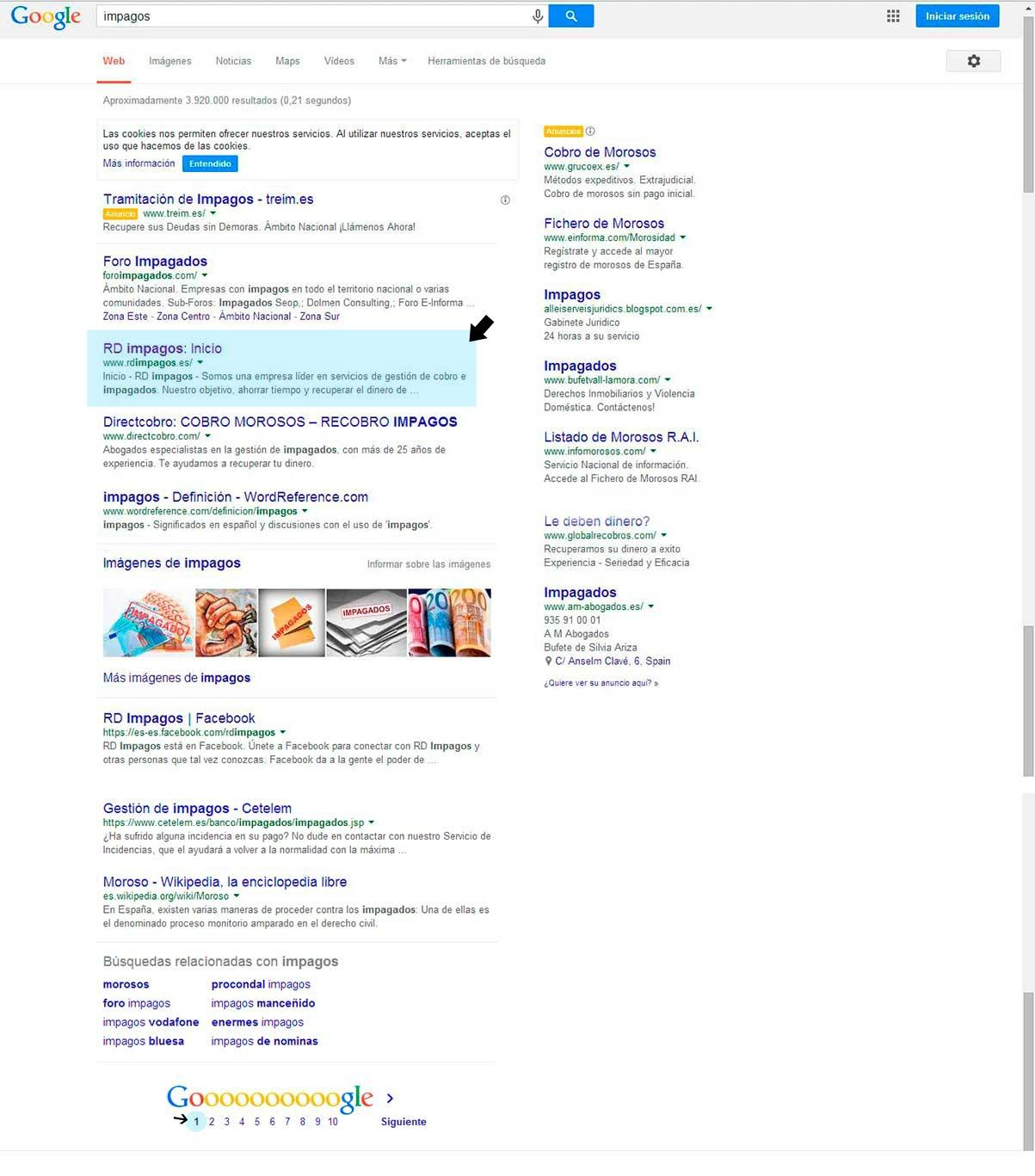 impagos-primeros-puestos-google-seo-buscadores