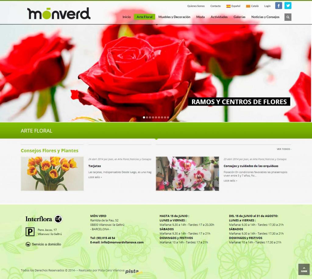 Pista cero inform tica pagina web monverd vilanova for Paginas web decoracion