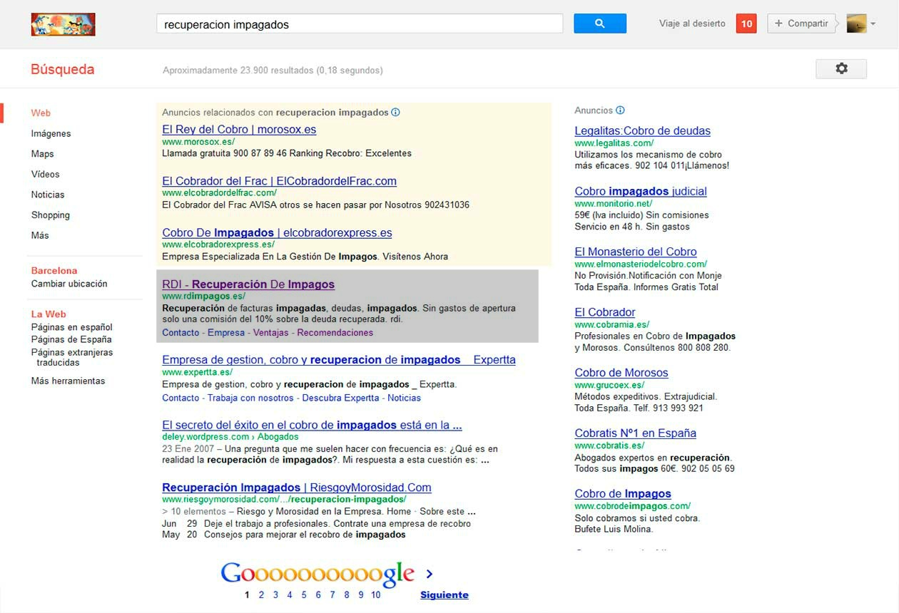 recuperacion-impagados-primeros-puestos-en-google